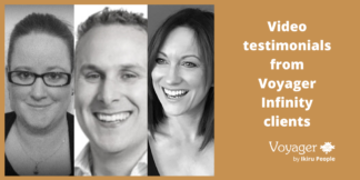 Video testimonials from Voyager Infinity clients