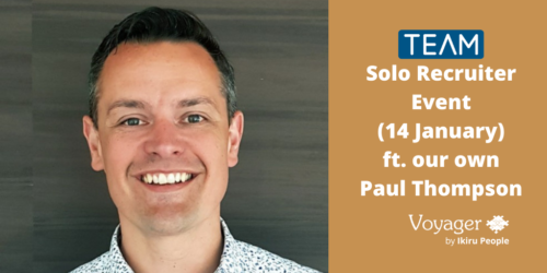 TEAM's Solo Recruiter Event (14 January) featuring our own Paul Thompson
